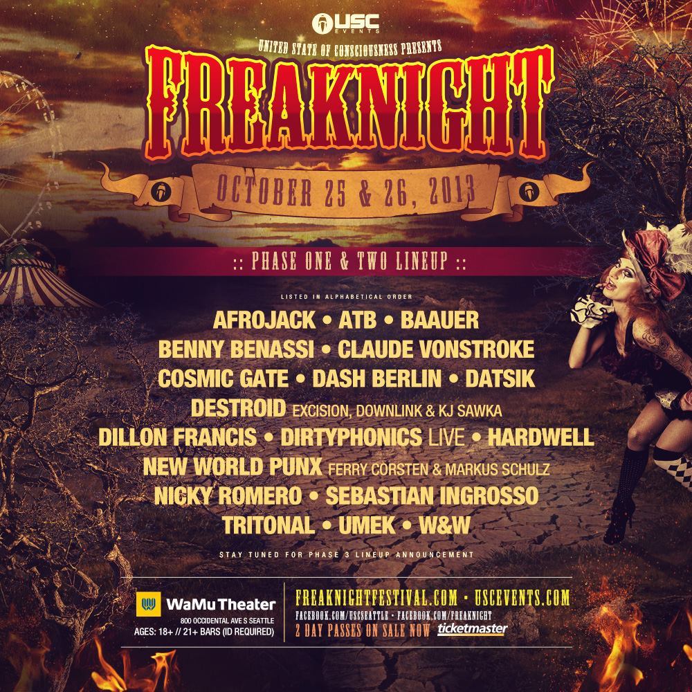 FreakNight 2013:  Phase II Lineup Announcement