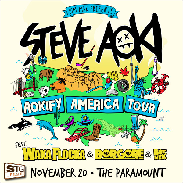 Aokify America:  Steve Aoki, Waka Flocka Flame and Borgore at the Paramount