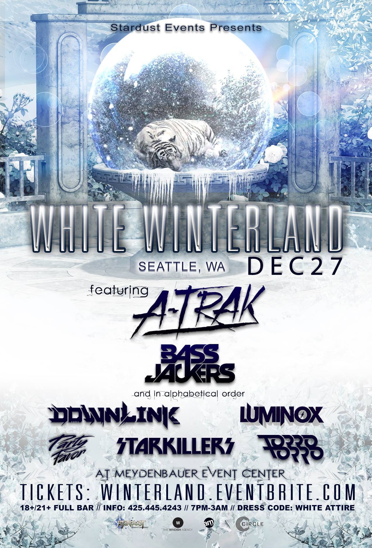 White Winterland 2013 with A-Trak, Bassjackers & More