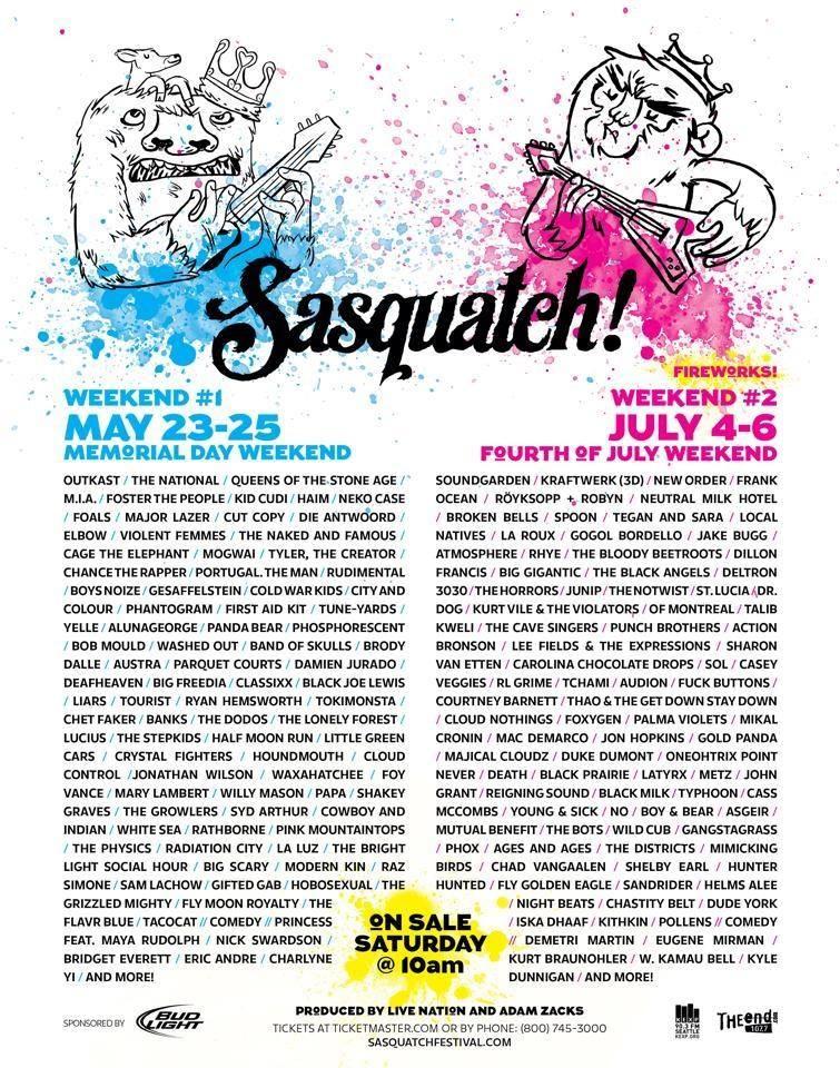 Sasquatch Festival(s)