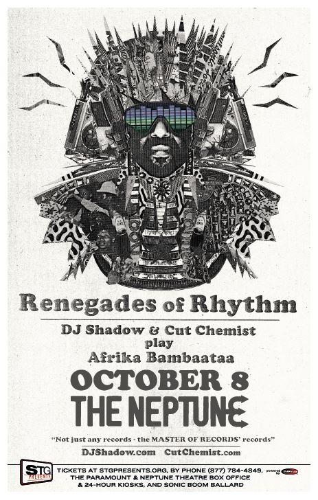 WIN TICKETS:  DJ Shadow and Cut Chemist Play Afrika Bambaataa!