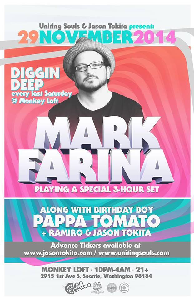 Uniting Souls presents Mark Farina at the Monkey Loft
