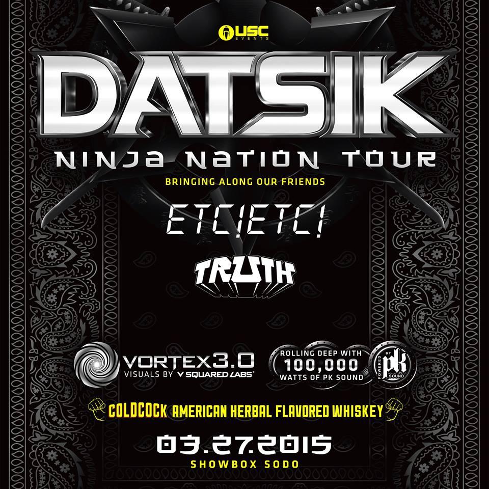 Datsik:  Ninja Nation Tour at the Showbox Sodo