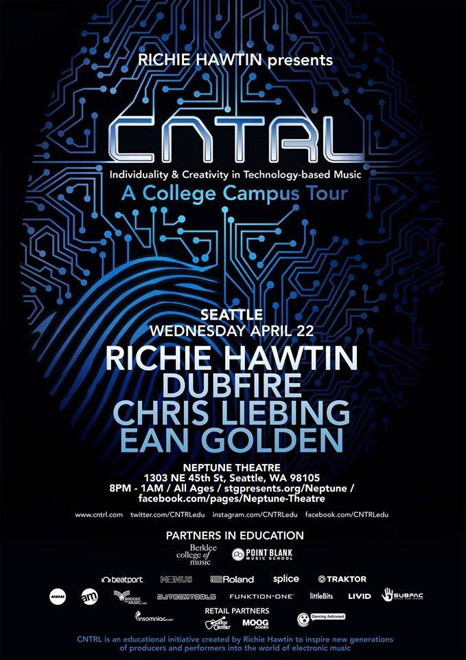 Richie Hawtin:  CNTRL Lecture & Evening Show with Dubfire