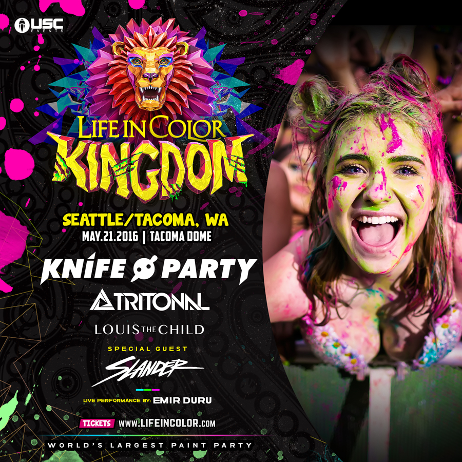 Life In Color 2016: World's Largest Paint Party Returning to Tacoma with Knife Party & Tritonal!