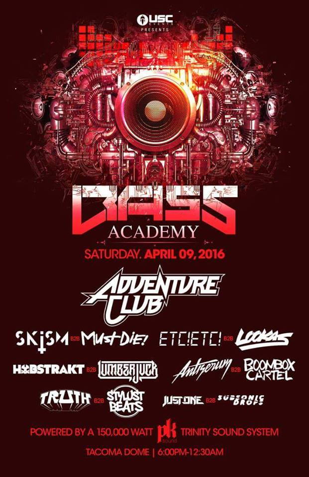 Adventure Club:  Bass Academy 2016 at the Tacoma Dome
