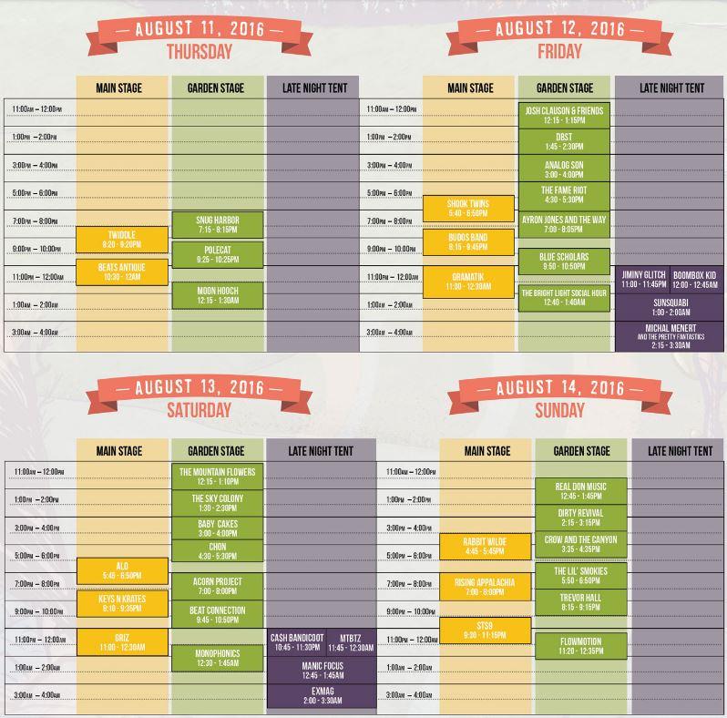 SummeMeltdown 2016 schedule
