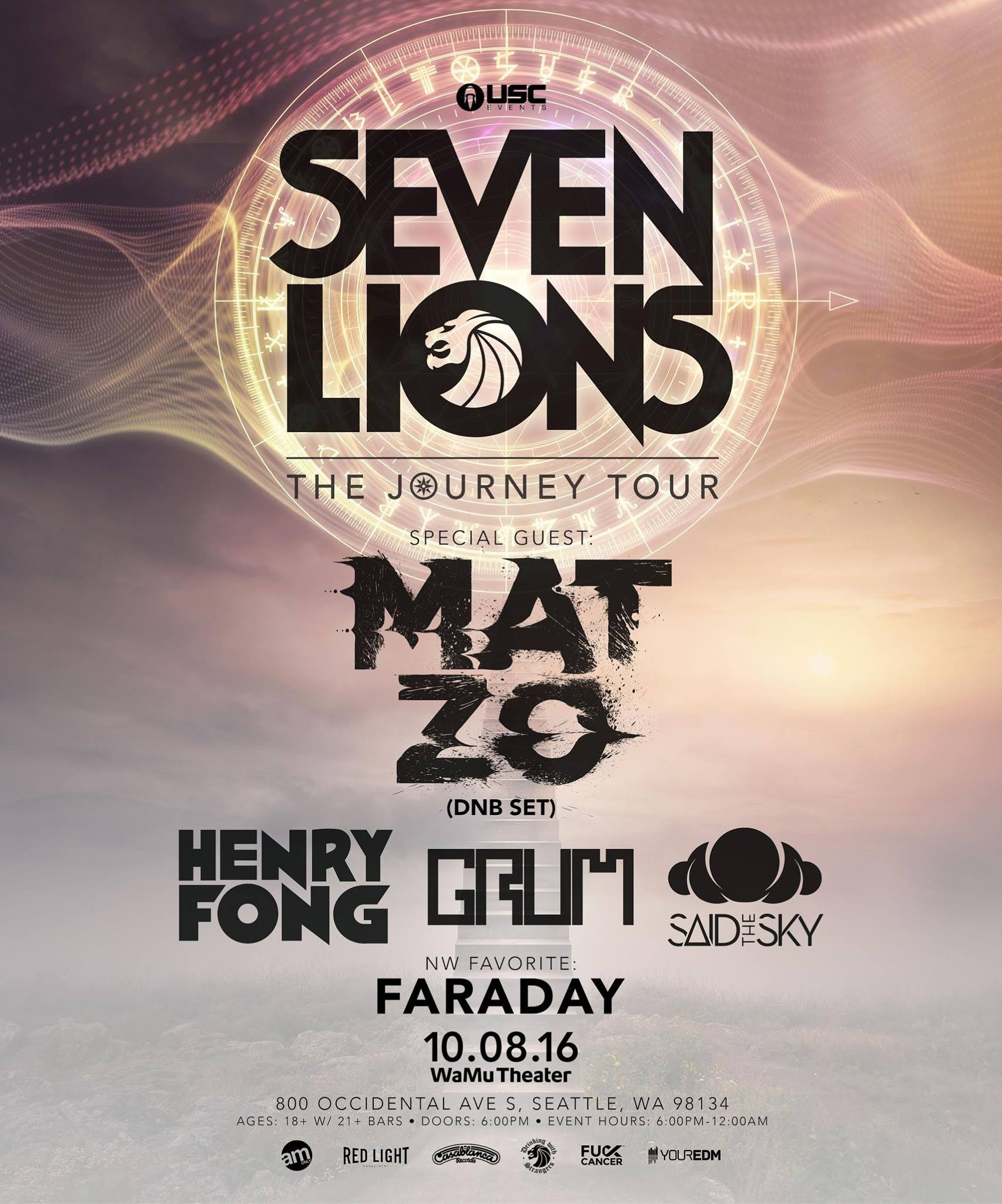 TICKET GIVEAWAY:  Seven Lions with Mat Zo at the WaMu Theater!