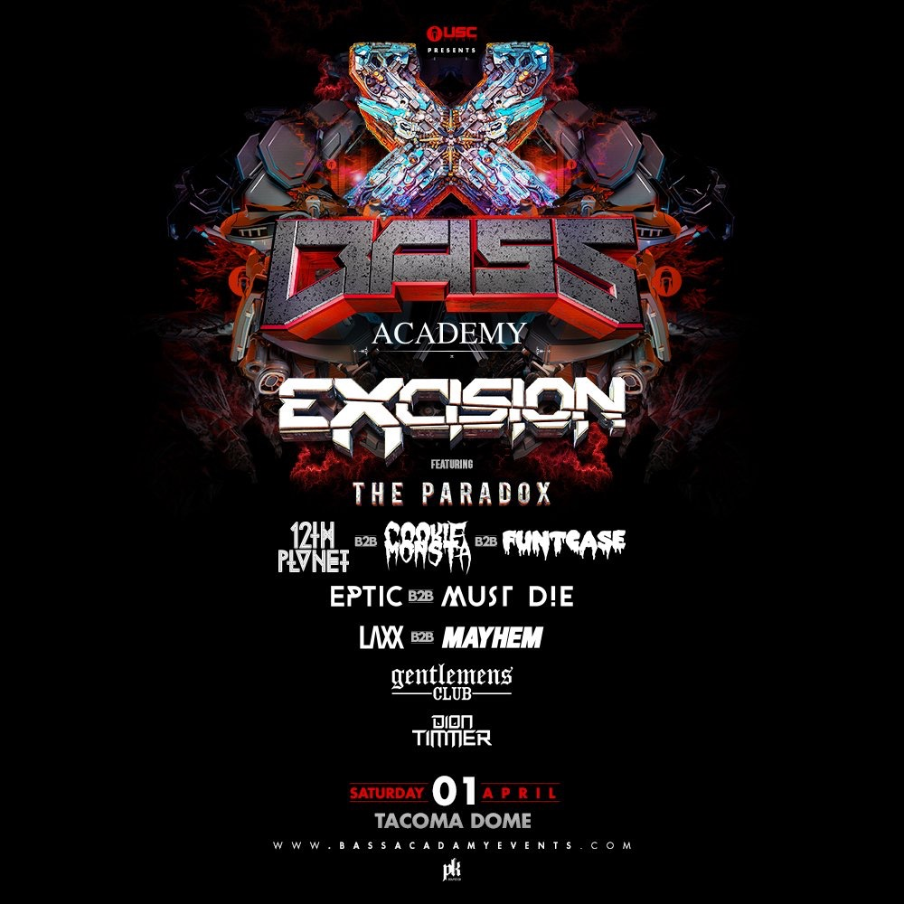 Excision: Bass Academy 2017 at the Tacoma Dome