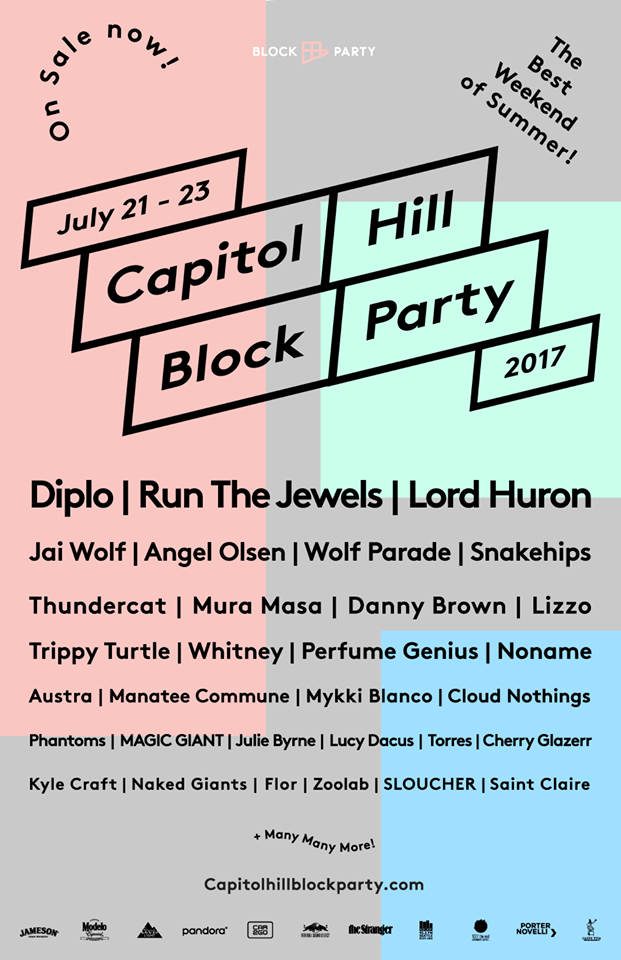 Capitol Hill Block Party 2017:  Diplo, Jai Wolf, Snakehips & more!