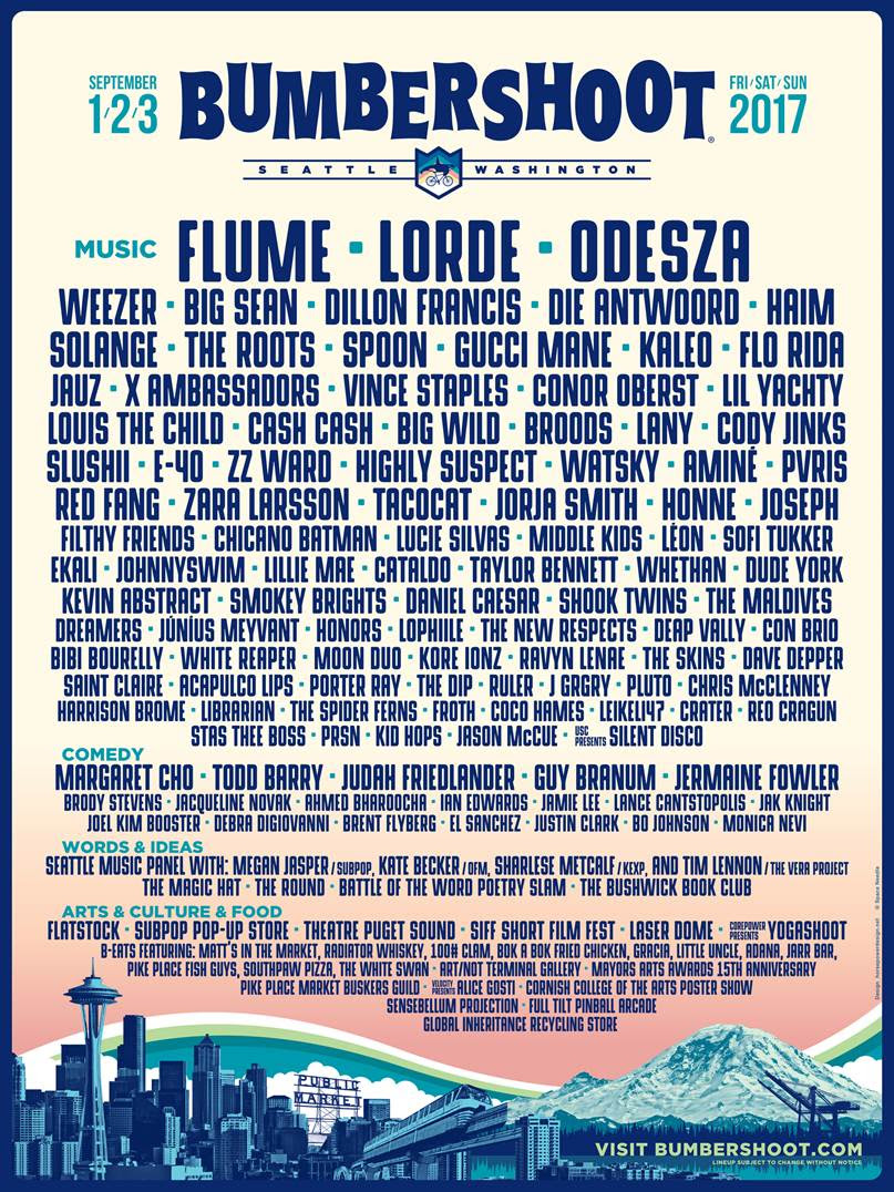 Bumbershoot 2017:  Flume, Odesza, Dillon Francis & more!