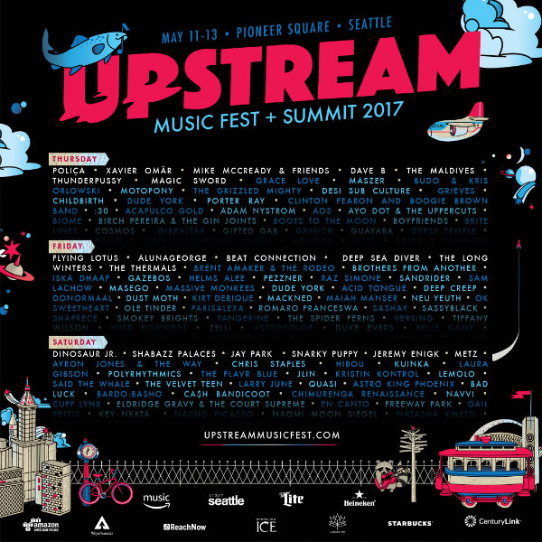 UPSTREAM MUSIC FESTIVAL: AlunaGeorge, Flying Lotus & more!
