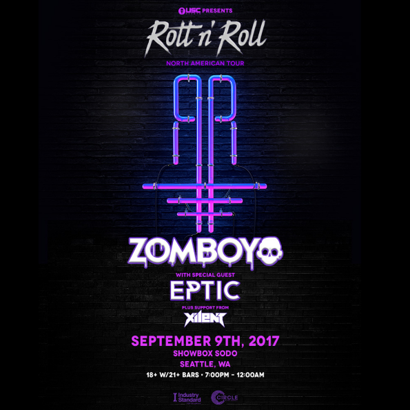 Zomboy with Eptic & Xilent at the Showbox Sodo: 2nd Show Added!