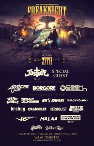 Justice, Adventure Club & more/FREAKNIGHT at the Wamu Theater [TICKET GIVEAWAY!] @ Wamu Theater | Seattle | Washington | United States