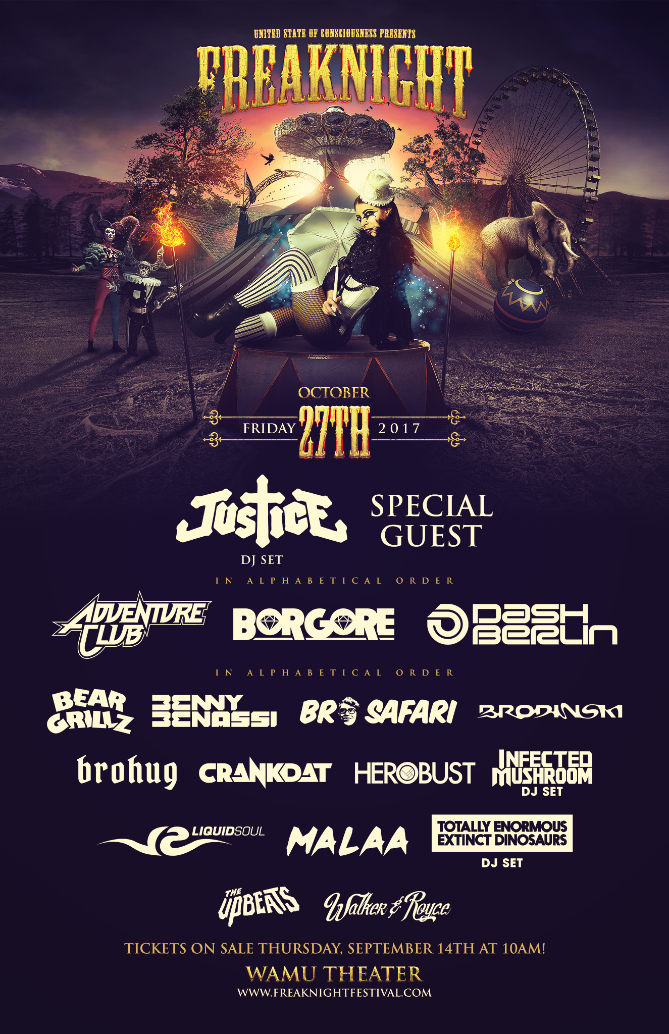 TICKET GIVEAWAY:  Freaknight 2017 at the Wamu Theater!