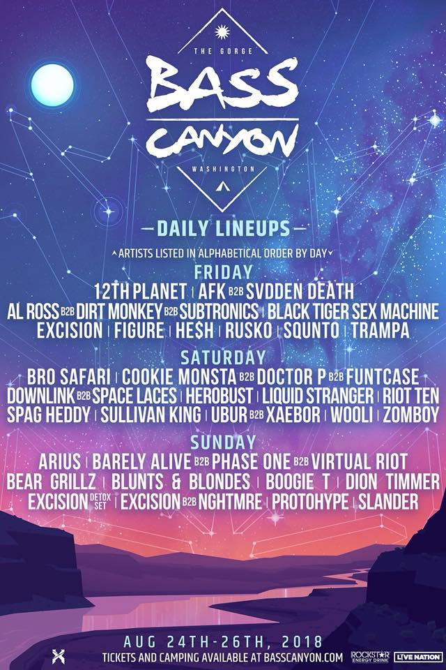 Excision presents Bass Canyon at the Gorge!