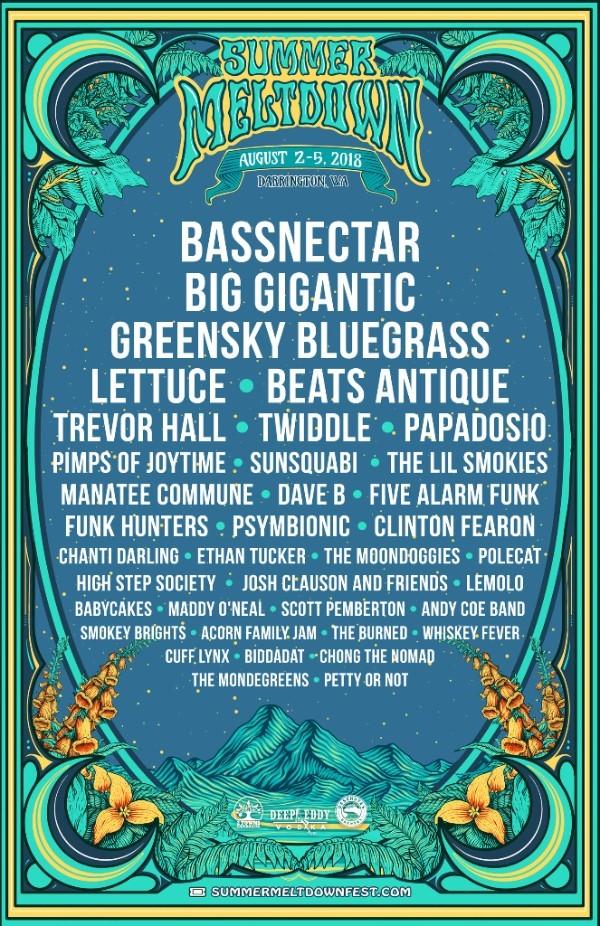 SUMMER MELTDOWN: Bassnectar, Big Gigantic, Beats Antique, Lettuce & more!