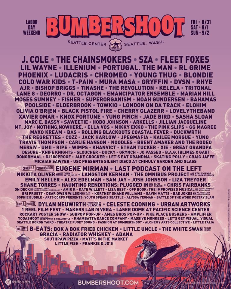 Bumbershoot: The Chainsmokers, Tritonal, Illenium, RL Grime, Deorro, Lane 8 & more!