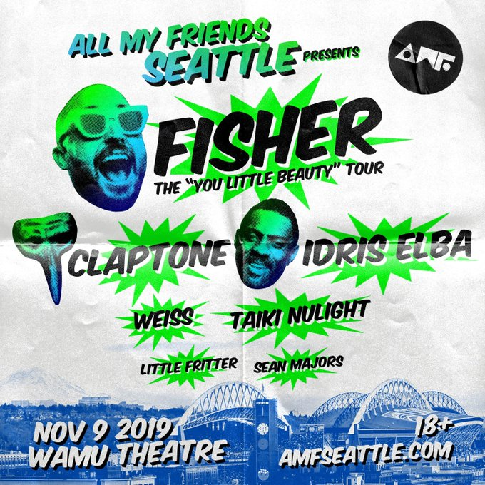 AMF Seattle: Fisher with Claptone, Idris Elba, Taiki Nulight & more!