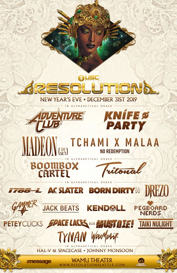 RESOLUTION NYE: Adventure Club, Knife Party & more!