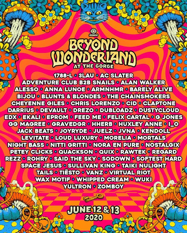 BEYOND WONDERLAND PNW: Tiësto, Chainsmokers, Alesso, Rezz & more!